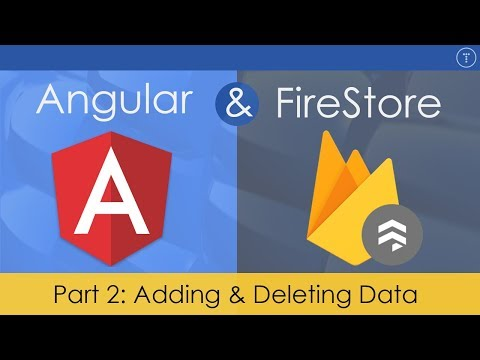 Angular & FireStore Application - [2] Add & Delete Data - YouTube
