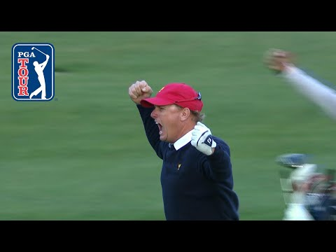 Charley Hoffman explodes with emotion at the Presidents Cup