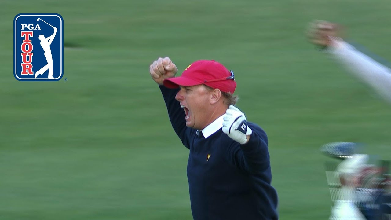 7c4ac2096c74d Charley Hoffman explodes with emotion at the Presidents Cup - YouTube