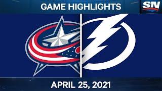 NHL Game Highlights   Blue Jackets vs. Lightning – Apr. 25, 2021