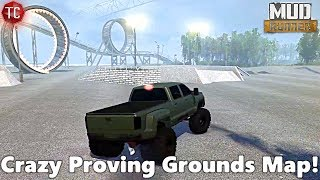 SpinTires MudRunner: CRAZY PROVING GROUNDS MAP!