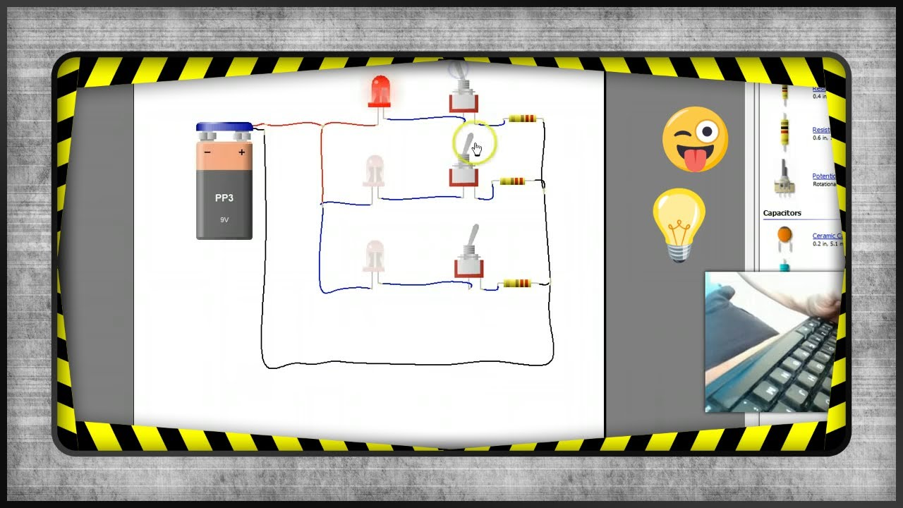 Circuito Led : Circuito paralelo con tres leds youtube