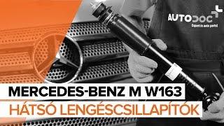 MERCEDES-BENZ M W163 Első lengéscsillapítók csere [ÚTMUTATÓ]