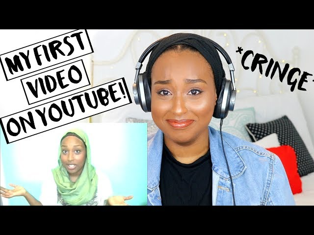 REACTING TO MY FIRST YOUTUBE VIDEO + HUGE 100K GIVEAWAY! | Aysha Abdul