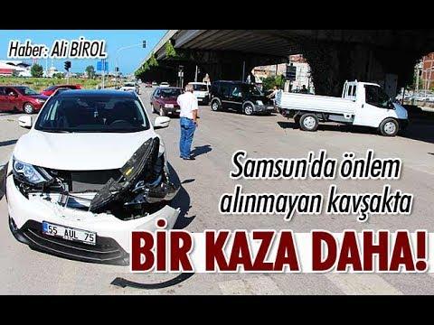 Samsun'da tehlike saçan kavşak: Bir kaza daha!