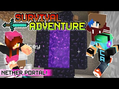 Survival Adventure EP8   Our Nether Portal. Baby Chad!!   Gamer Chad & RadioJh Audrey