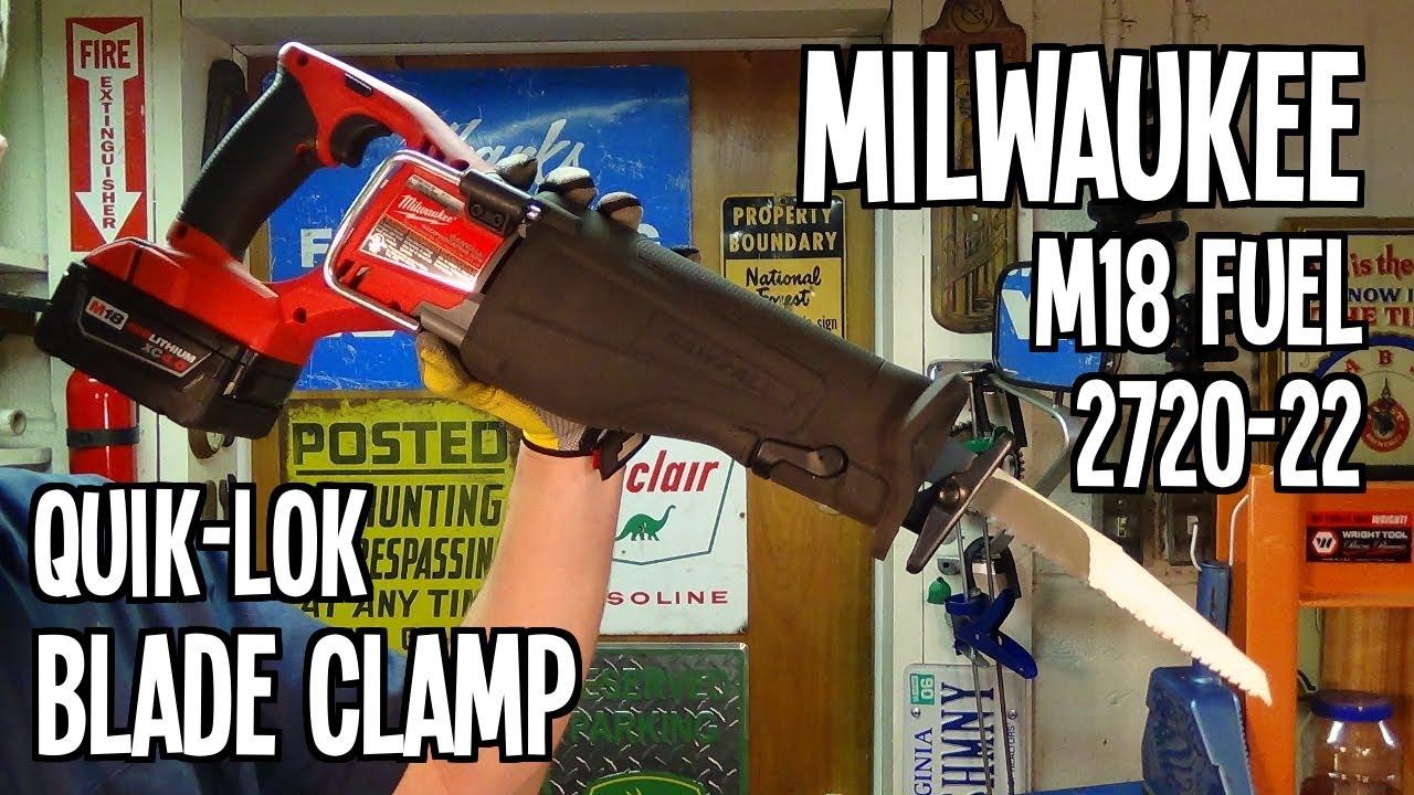 Quik lok blade change milwaukee m18 fuel 2720 22 sawzall youtube quik lok blade change milwaukee m18 fuel 2720 22 sawzall greentooth Gallery