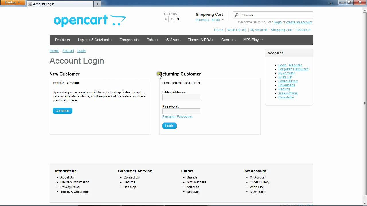 Shop/customer/account/login - Opencart Force Customer Registration Module Avi