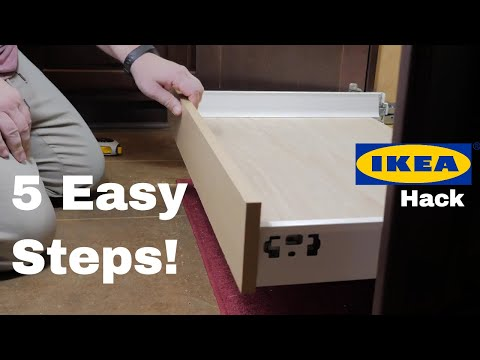 How to Make Pull Out Cabinet Shelves from IKEA Drawers - Easy DIY IKEA HACK for Kitchen Organization