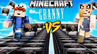 SZALONY WYCIG BABUNIA LUCKY BLOCKI MINECRAFT Granny Lucky Block Race Vito vs Bella