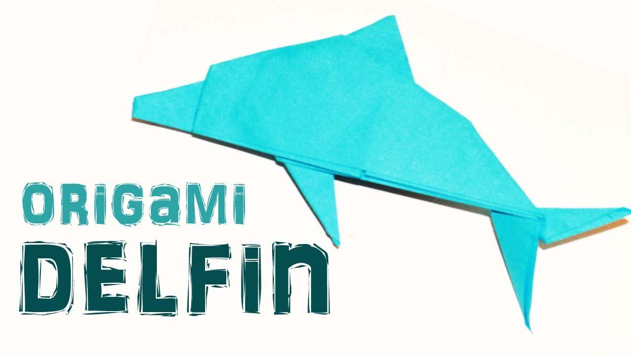 Origami de Animales COMO HACER UN DELFIN DE PAPEL delfin de