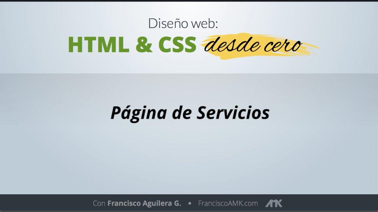 HTML y CSS Desde Cero – 48. Página de Servicios