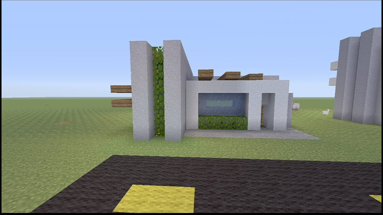 minecraft mini house ideas - Simple Modern House Minecraft