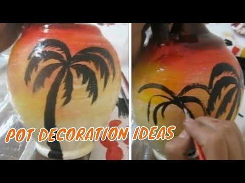Easy pot painting   DIY flower pot decoration ideas