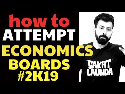 HOW TO ATTEMPT ECONOMICS PAPER #BOARDS2K19