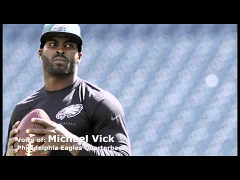 Michael Vick in Chiefs camp as a coaching intern