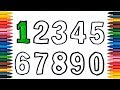 Numbers 123456789 Drawing Numbers How to Draw And Paint Numbers Coloring Book Coloring Page