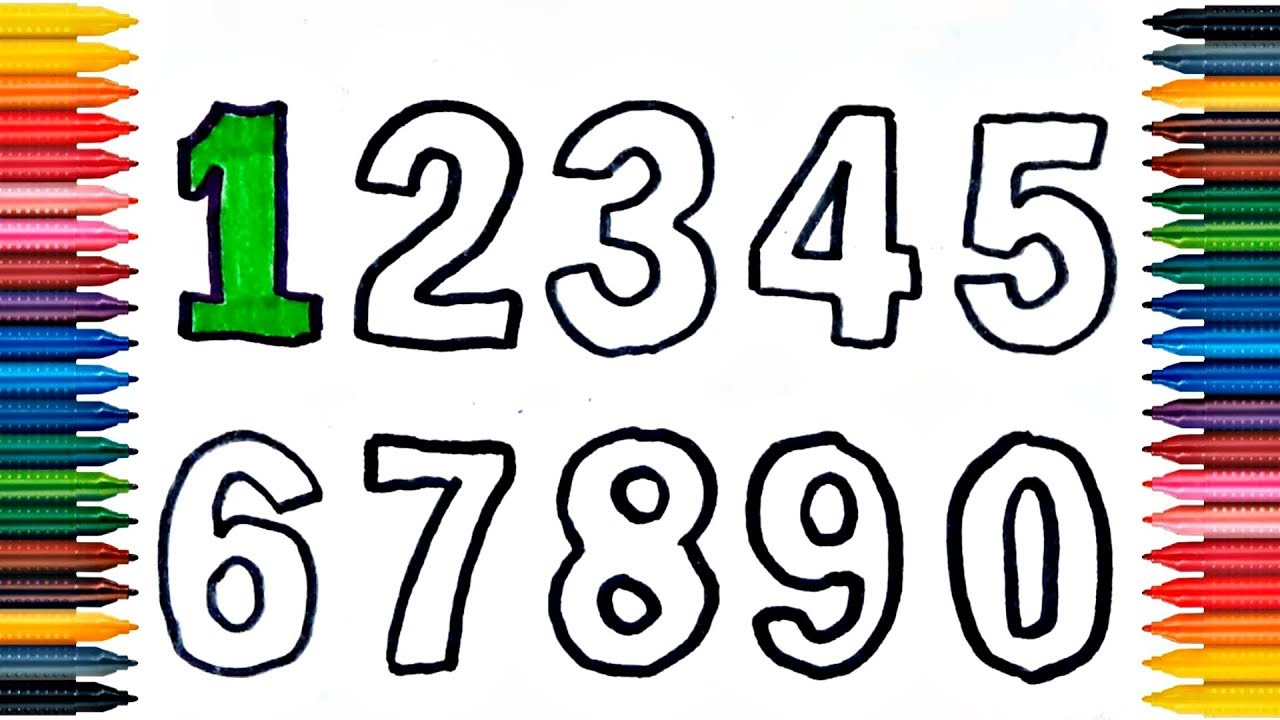 Numbers 123456789 Drawing Numbers How To Draw And Paint