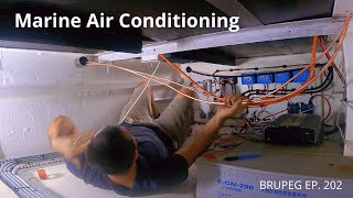 Marine air conditioning, making the insulated pipes - Project Brupeg Ep. 202