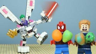 Lego Joker building a Bunny Robot to rob Easter Eggs | Brick Creation 🔴49