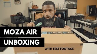 MOZA Air 3-axis Handheld Gimbal Camera Stabilizer UNBOXING WITH TEST FOOTAGE