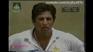 Wasim Akram is Angry after Umpire rejected his appeal