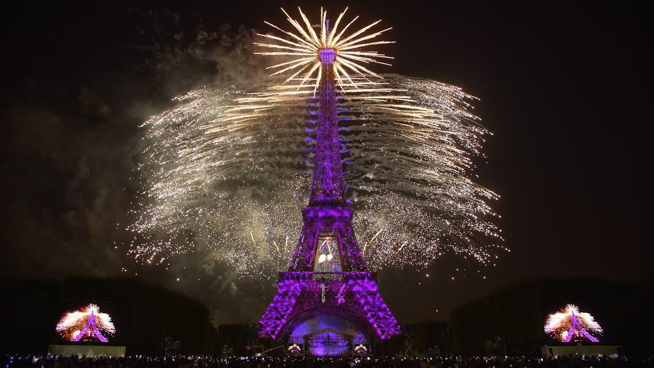 La Fête Nationale Française   Paris   Tour Eiffel   14 Juillet 2018 (Feu  Du0027artifice)