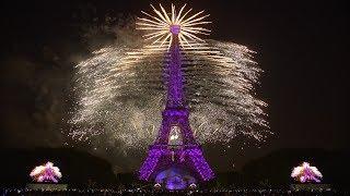 La Fête nationale française - Paris - Tour Eiffel - 14 juillet 2018 (Feu d'artifice)