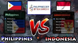 30TH SOUTHEAST ASIAN GAMES DOTA 2 ! INDONESIA vs PHILIPPINES GAME 1 - SEA GAMES 2019