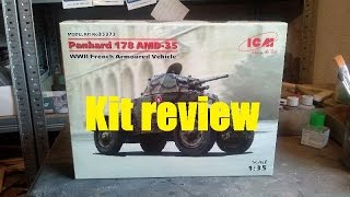 Kit review: ICM Panhard 178 AMD-35 in 1/35 scale