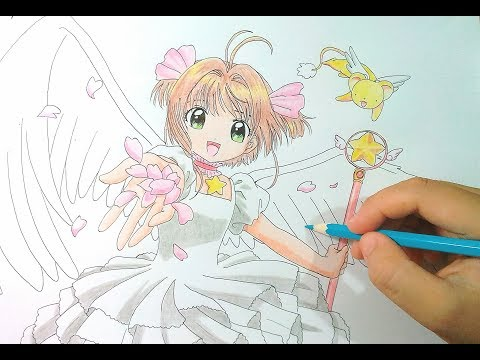 How To Draw Sakura (CardCaptor Sakura) - Vẽ Sakura & Kero