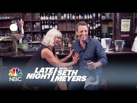 Seth and His Mom Go Day Drinking  Late Night with Seth Meyers