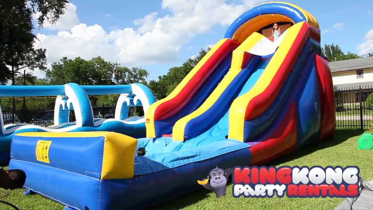 Kids Pools With Slides 16ft water slide with pool - houston's newest cleanest family fun