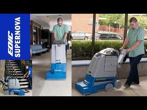 Walk Behind Carpet Cleaning Self-Contained Carpet Extractor Machine - EDIC Supernova Two-Way