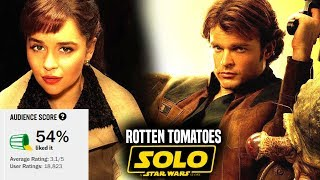 Solo A Star Wars Story Drops To 54% On Rotten Tomatoes!