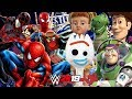 TOY STORY 4 vs SPIDER-MAN FAR FROM HOME | WWE 2K19 Royal Rumble