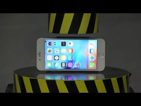 iPhone Telefonu 100 Tonluk Pres Makinesi ile Ezme !