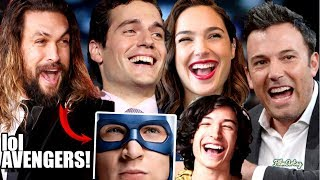 Justice League Cast Continuously Trolls Avengers - Hilarious Trash Talk😂😂