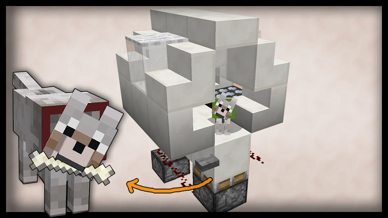 The smart minecraft dog house redstone tutorial pc pe for How to build a dog house youtube