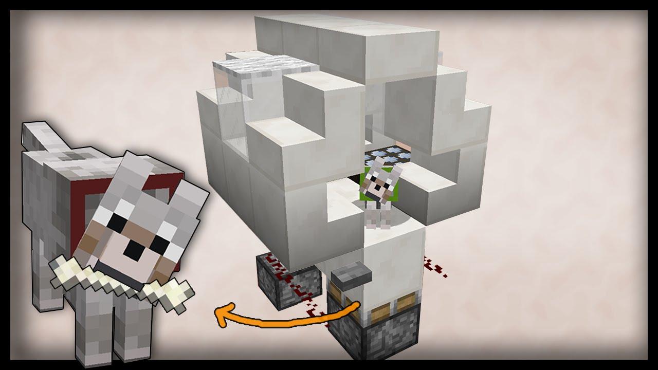 The Smart Minecraft Dog House Redstone Tutorial Pc Pe