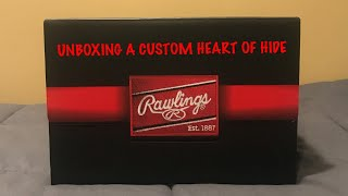 UNBOXING!! RAWLINGS CUSTOM HEART OF HIDE