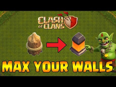 EASIEST WAY TO MAX YOUR WALLS (Fast & Efficient) | Clash of Clans (Hindi)