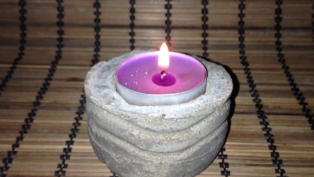 5 Things That Are Made Of Cement : Make a unique cement candle holder diy guidecentral