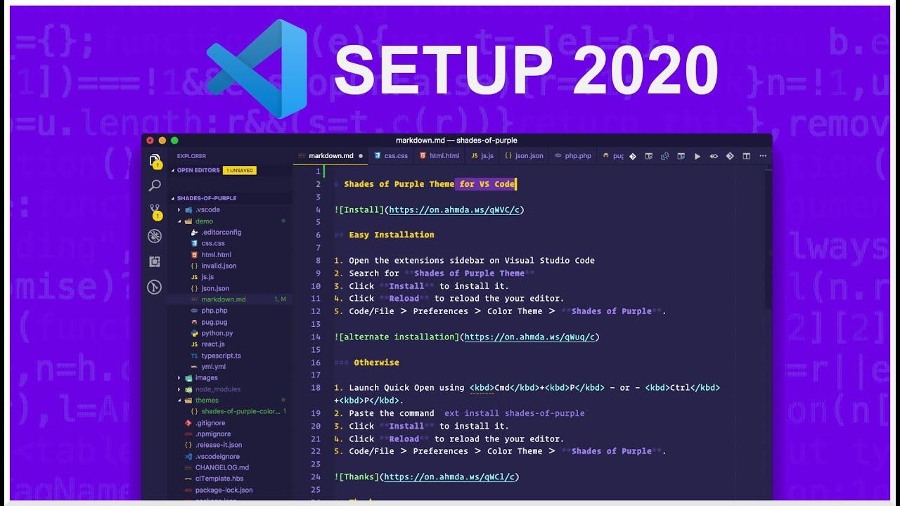 Visual Studio Code. Mi Configuración de extensiones 2020