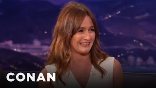 Emily Mortimer's Bizarre Car Encounter With A Homeless Guy  - CONAN on TBS