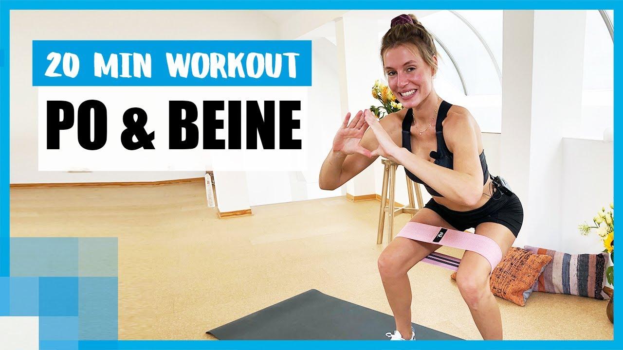 20 MIN Resistance Band Workout für Po und Beine  ⚡️| mit LeaLight