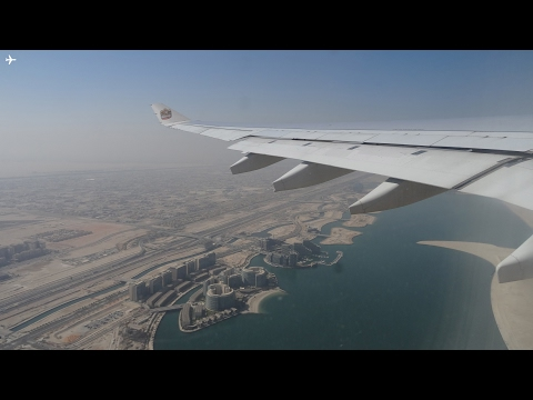 Etihad Airways A330-200 Morning Takeoff from Abu Dhabi International Airport