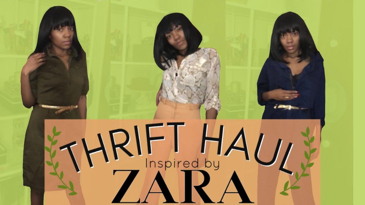 SPRING 2019 THRIFT HAUL | TRY-ON inspired by Zara 9