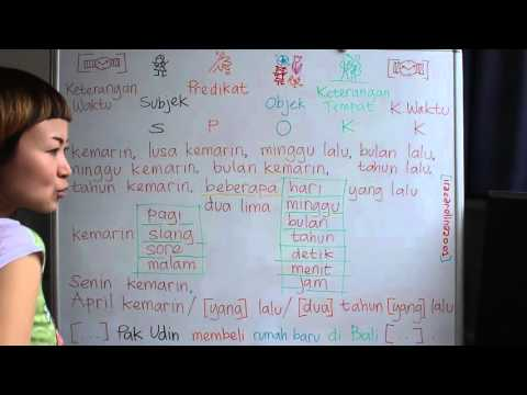 LEARN INDONESIAN LANGUAGE #44 PAST PREVIOUS TIME - MASA LALU WAKTU LAMPAU