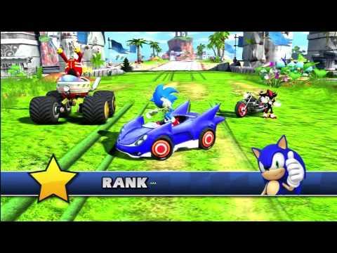 Sonic & Sega All Stars Racing Xbox 360 Game Play HD